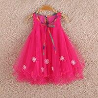 The New 2016 Girls Dress Summer Princess Vest Cotton Children S Wear Children S Veil Costumes