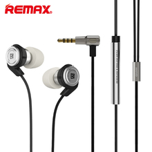 Remax RM-800MD Stereo Earphones Wired Bass Stereo Noise Reduction Earbuds In Ear with Mic 3.5mm AUX for iPhone Samsung Android