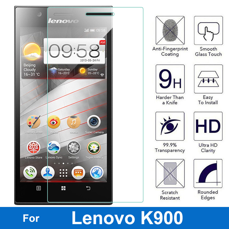 Original Tempered Glass Screen Protector For Lenovo IdeaPhone K900 K 900 Anti-explosion Proof Anti-shatter Glass Film