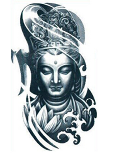 1 Feuille Bras Tatouage Temporaire Autocollant De Tatouage Bouddha