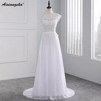 New Arrival 2015 Custom Made White Dress For Wedding Stunning Vestidos De Noiva A Line Cap