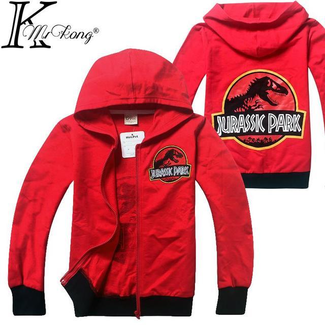 Novos 6-14 anos filho adolescente de manga Comprida Camisa menino hoodies manga larga dinosaurus mundo jurássico dinossauro crianças camiseta infantil menino