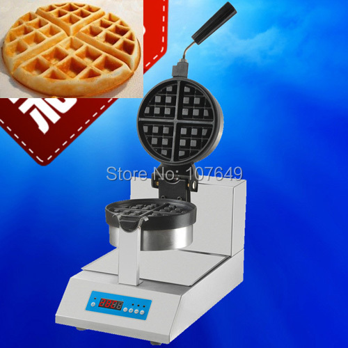 110V 220V Commercial Use Non-stick Electric Digital Rotated Waffe Maker Iron Machine Baker