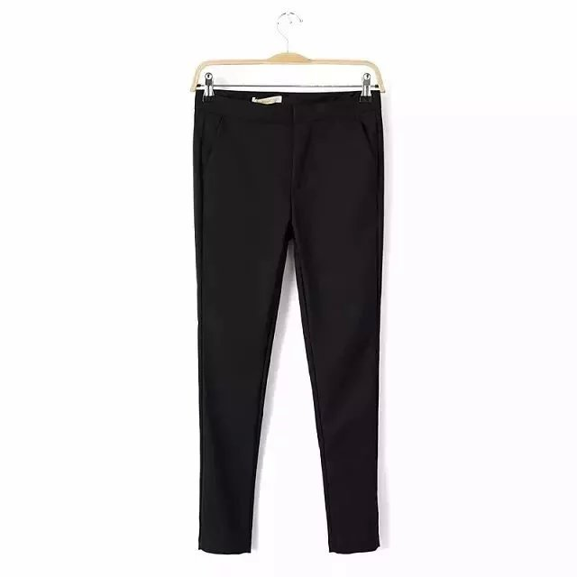 2018 spring and summer new simple cotton solid color pants trousers female, Slim was thin casual pants female Price $19.00