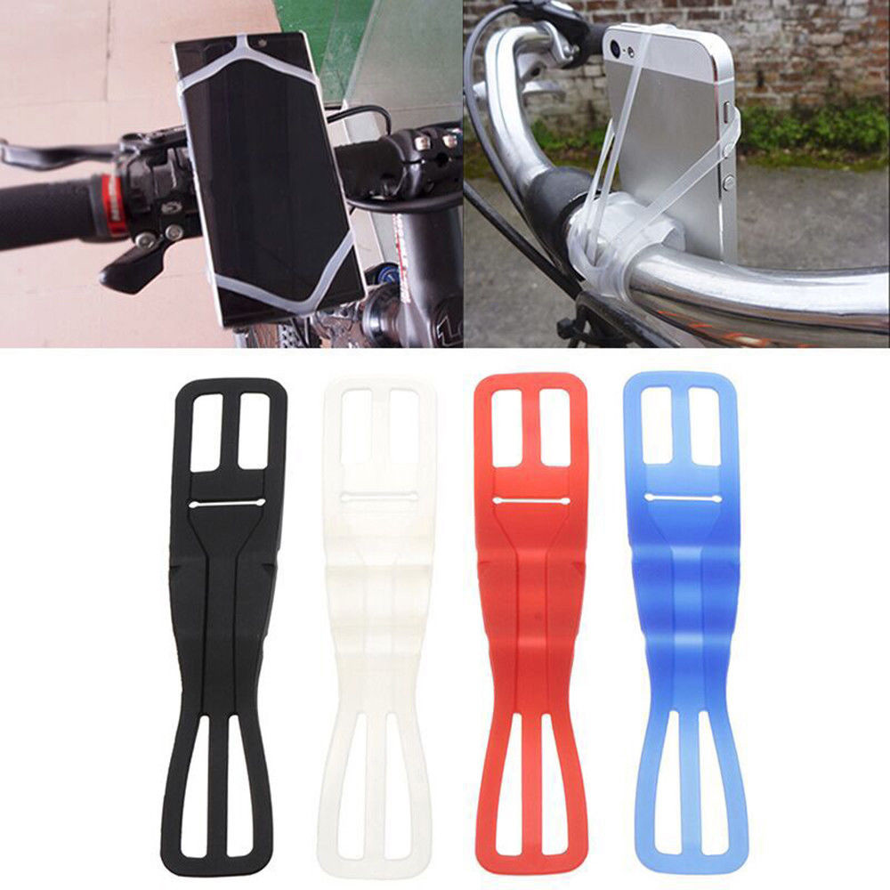 Universal Silicone Rubber Elastic Bicycle Motorcycle Bike Mount Holder Security Band For Mobile Phone Outdoor Tools elastic baggage band helmet holder for motorcycle yellow