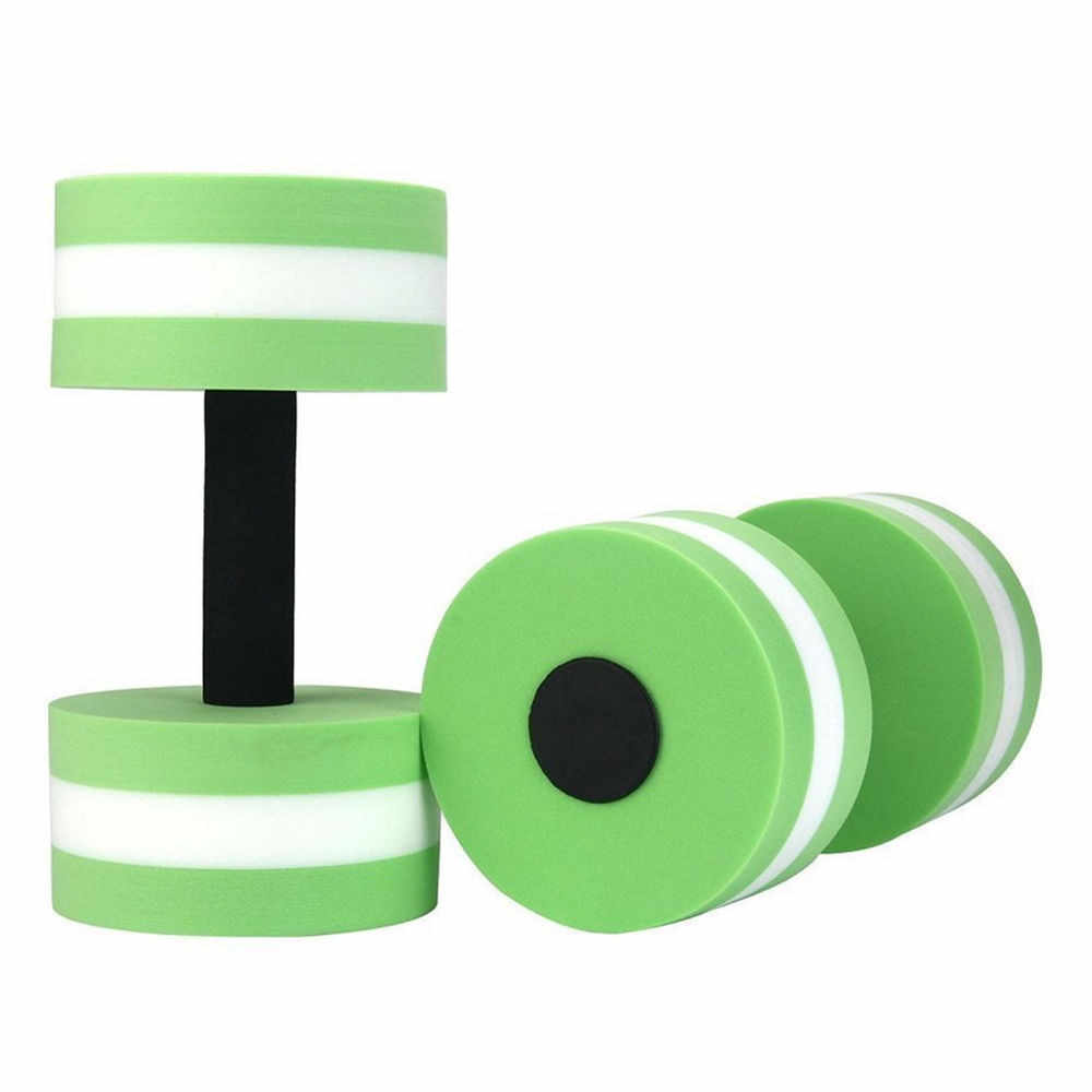 1 para zielony Aqua Fitness sztanga z pianki EVA wody hantle ręcznie bary basen odporność na ćwiczenia gimnastyczne crossfit 100% nowy