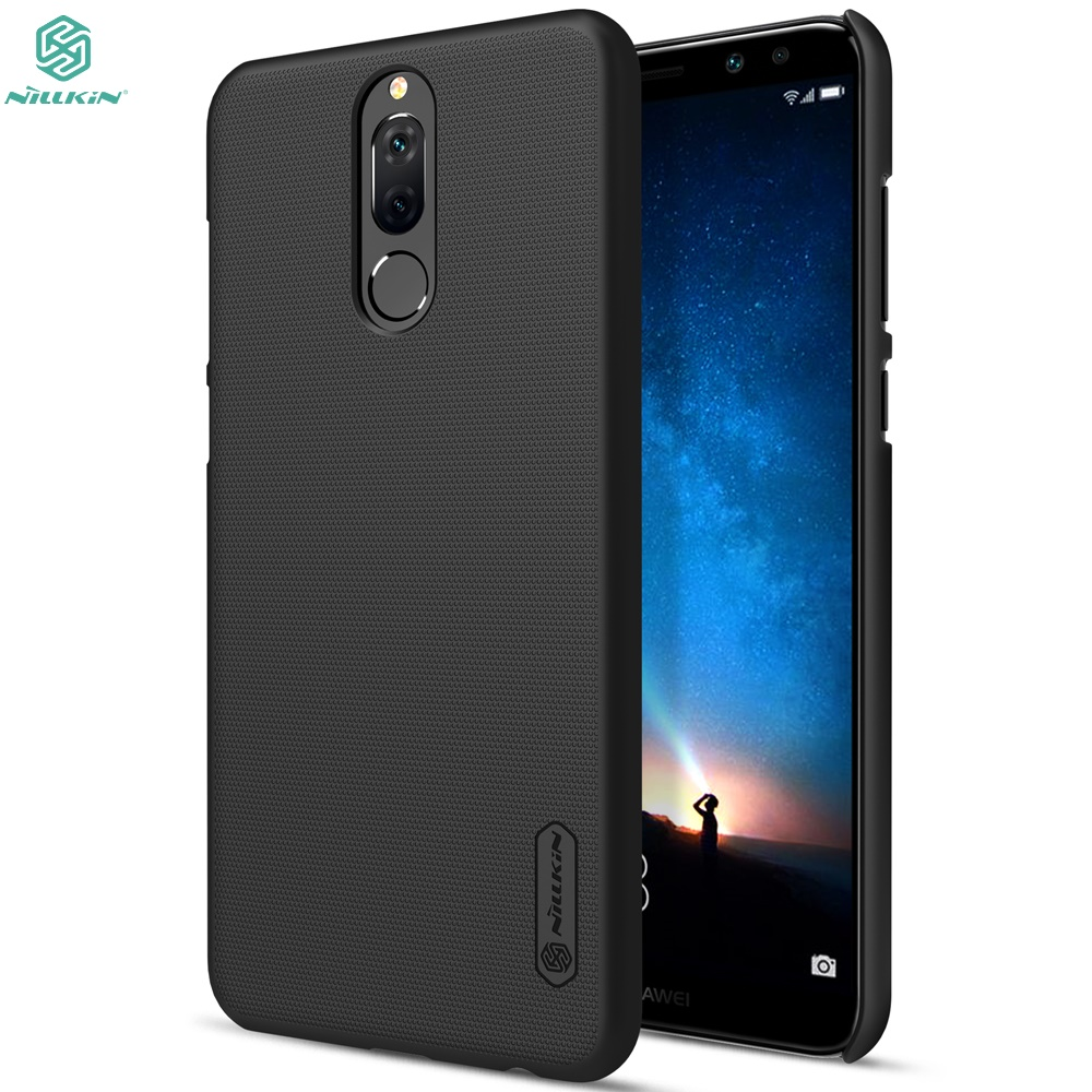 NILLKIN Case For HUAWEI Nova 2i / Mate 10 lite Super Frosted Shield Back Cover Bumper Case with Free Screen Protector