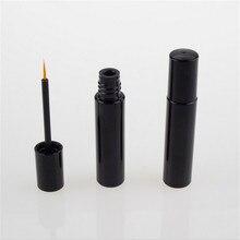 10ps 4ml empty black eyeliner container bottle tube with brush,make up liquid applicator