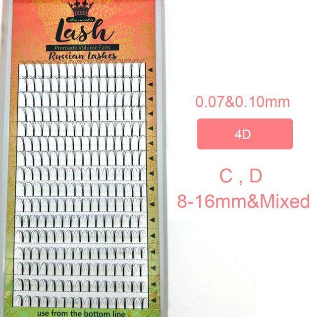 MAS Lashes 16 Lines Premade Volume Fans 3d/4d/5d/6d Lash Russian Volume Eyelash Extensions Pre made Lash Extension Faux Mink 3