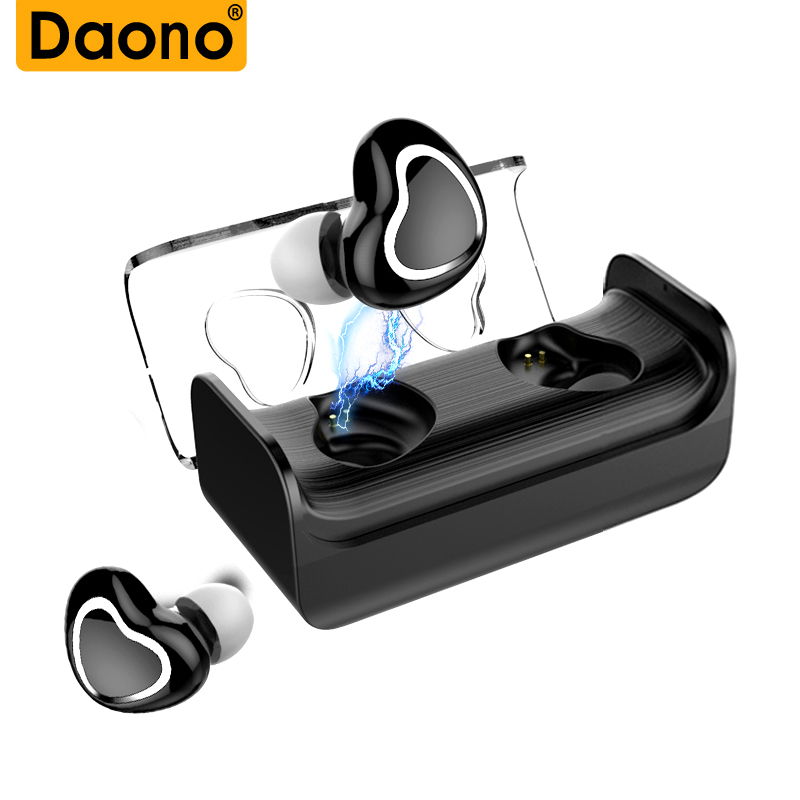 DAONO TWS Bluetooth Earphones True Wireless Earbuds Mini Stereo Music Headsets Hands-free With Mic Charging Box for Phones
