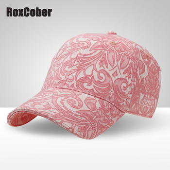 RoxCober High Quality Women Jacquard cotton baseball cap sports Snapback Caps Outdoor Sun Hat Adjustable Hip-hop hat