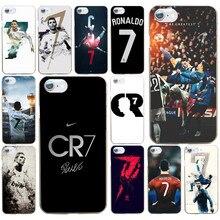 71f191d2b 86AD CR7 logo cristiano ronaldo 7 Football Hard Transparent Cover Case for  iphone 4 4s 5 5c 5s se 6 6s 8 plus 7 7 Plus X