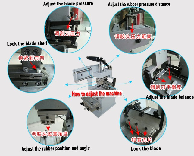 pad printing machine adjustment