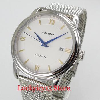 CORGEUT Sapphire Glass Stainless Steel Men's Watch Automatic Movement Mechanical Wristwatch Auto Date Mental Strap