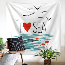 4 Models Beach Ocean Scenery Velvety Polyester Flag Big Size Tapestry Sofa Sets Bed Account Picnic Mats Ceiling Sitting Blanket(China)