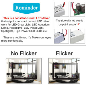 Image 2 - No Flicker 1W 3W 5W 10W 20W 30W 36W 50W 100W LED Driver Lighting Transformers Power Supply for 1 3 5 10 20 30 50 100 W Watt Lamp
