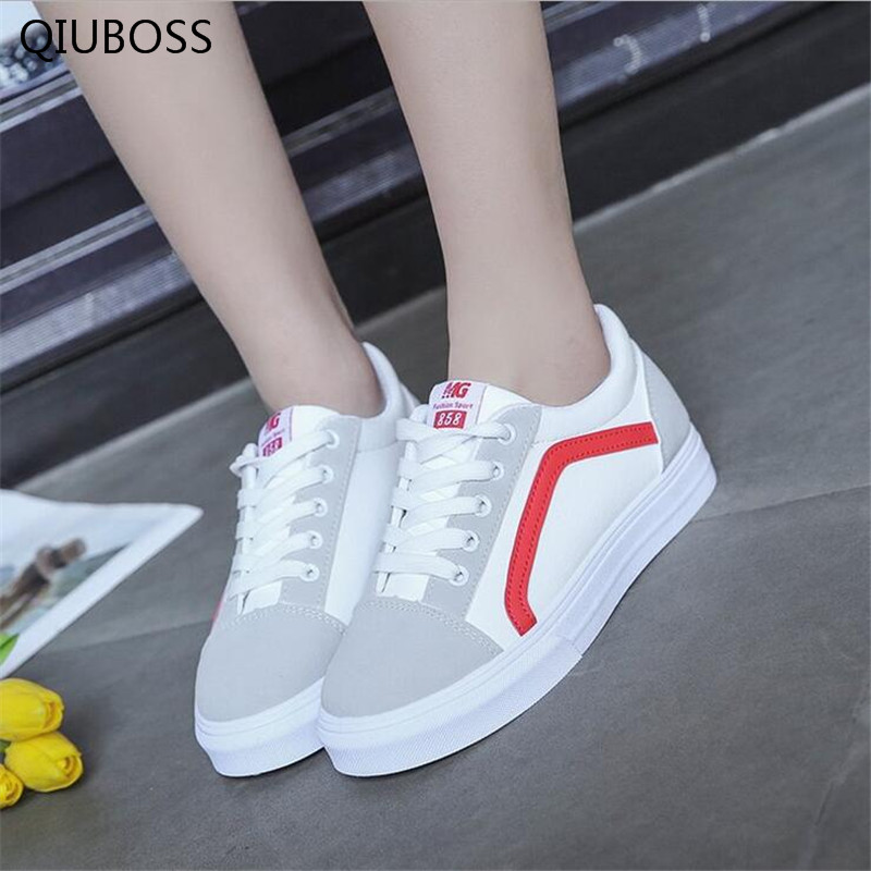 Women White Shoes 2018 Spring New Female Casual Shoes Fashion Sneakers Zapatillas Deportivas Mujer Canvas Female Board Shoes
