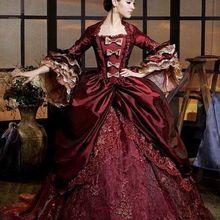 Роскошное Бордовое платье Марии Антуанетты, платье королевы Ренессанса, одежда для выступлений, вечерние бальные платья
