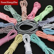 1Pair 100/120/140/160cm Fluorescent Sneaker Shoestrings Sport Shoelaces 3M Reflective Round Rope Shoes Lace Light Shoelaces