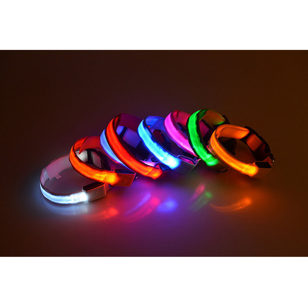 Pet Dog Luminescent Leashes And Collars Puppy Walking At Night Safety Lead Belt LED Lighted Anti-lost Product For Small Doggy