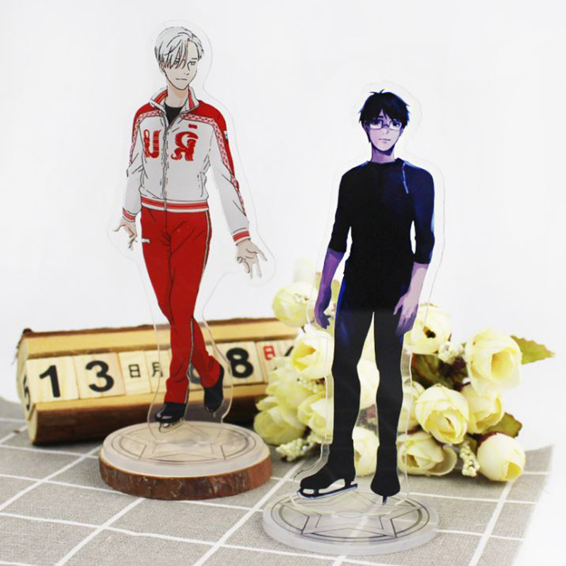 1 Pc Hot sale Anime YURI ON ICE Acrylic Stand Model Toys Acrylic Action Figure Accessory Pendant collection double-side [pcmos] 2017 hot anime yuri on ice victor nikiforov crystal led light charn keychain pendant toy gift collection 16120622