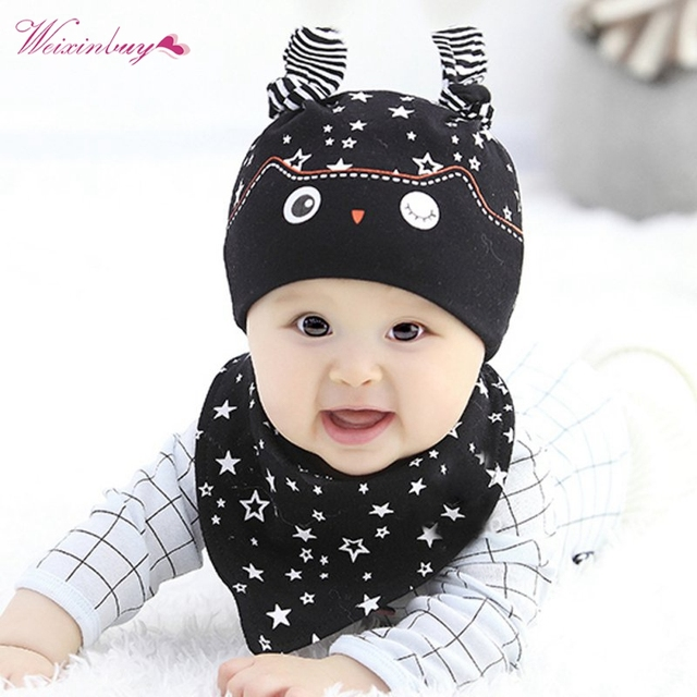 98c5c492c4b5 Fashion Cute Toddler Child Baby Boys Girls Sleep Hat Cap + Saliva ...