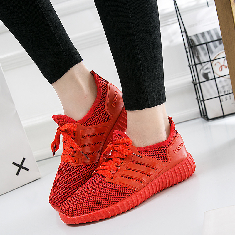 Spring and summer new trend sports style leisure men's shoes men's and  women's shoes INS Super red