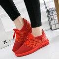 2018 primavera e verão nova tendência esportes estilo lazer sapatos masculinos e femininos sapatos ins super vermelho