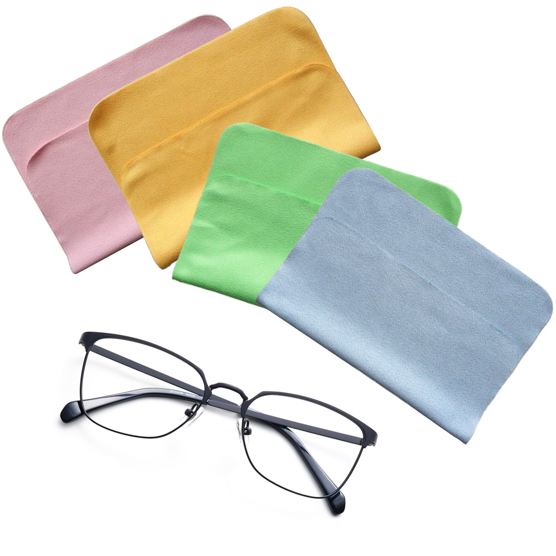 1pc Cleaner Clean Glasses Lens Cloth Wipes For Sunglasses
