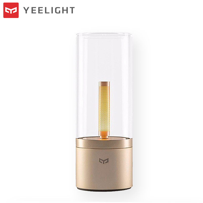 Xiaomi Yeelight 6.5W Rechargeable Dimmable LED Candela Candle Night Light Bluetooth Control for Smart Home Automation xiaomi mijia yeelight portable led makeup mirror with light dimmable and smart motion sensor night light for xiaomi smart home