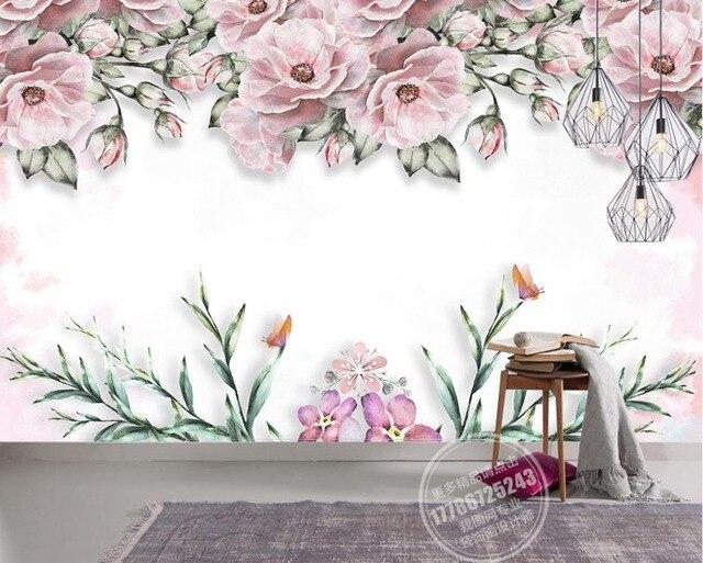 papel tapiz para cocina breve moderno 3d mural elegante flor mural no tejido