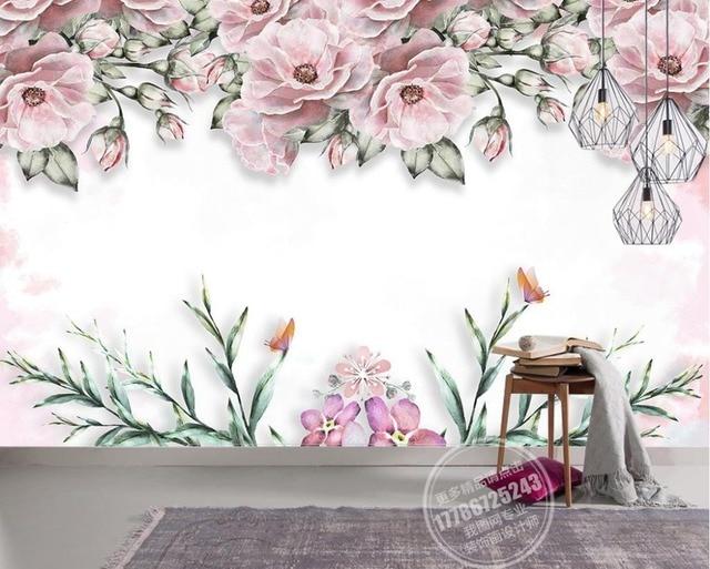 Moderne Kurze 3D Wandbild Tapete Elegante Blume Wandbild Vlies