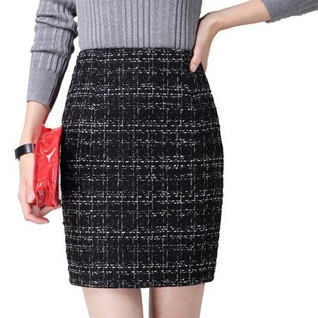 2018 wiosna jesień panie mody formalne spódnice kobiet wysokiej talii spódnica ołówkowa Plus rozmiar spódnica na co dzień spódnice biurowe kobiety XS XXXL w Spódnice od Odzież damska na  Grupa 1