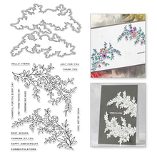 Eastshape Floral Vine Clear Stamps and Metal Cutting Dies Scrapbooking for 2019 New Craft Set Decorative Embossing Stencils