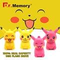Pokemon Pikachu Dos Desenhos Animados Pen Drive USB Flash Drive USB Stick 4 gb 8 gb 16 gb 32 gb Pendrive U Disco Presente Pessoal ir pikachu 64 GB