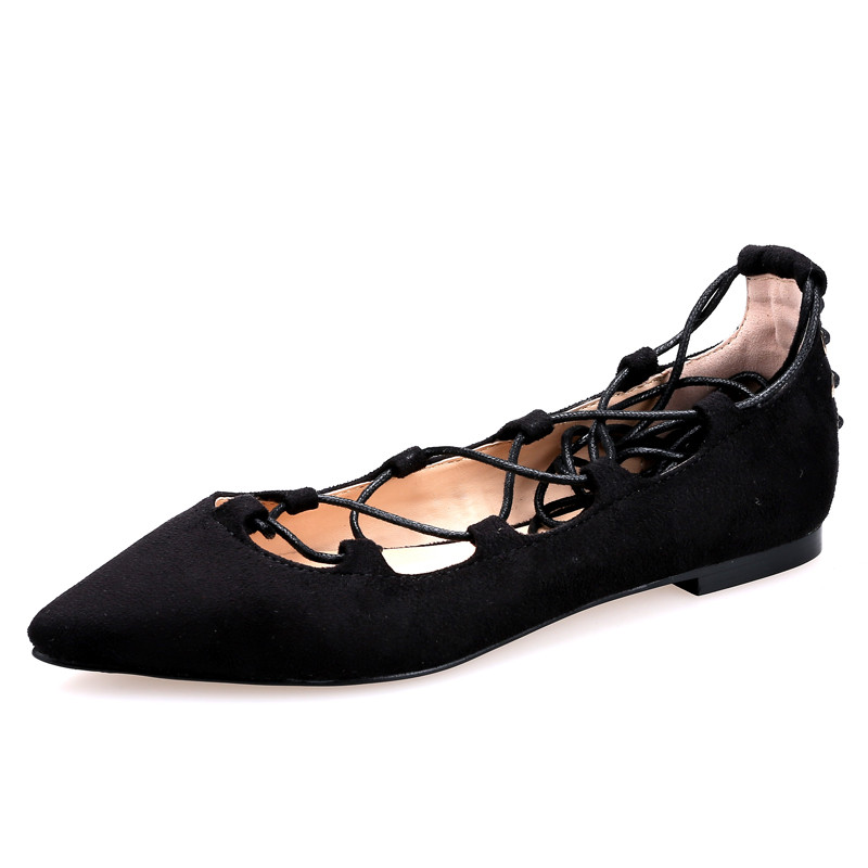 Lace Red Bottom Women Flats Ballerina Shoes Women Ballet Shoe Ballerina Flats Pointed Toe Shoes Woman Brand Ballet Flats