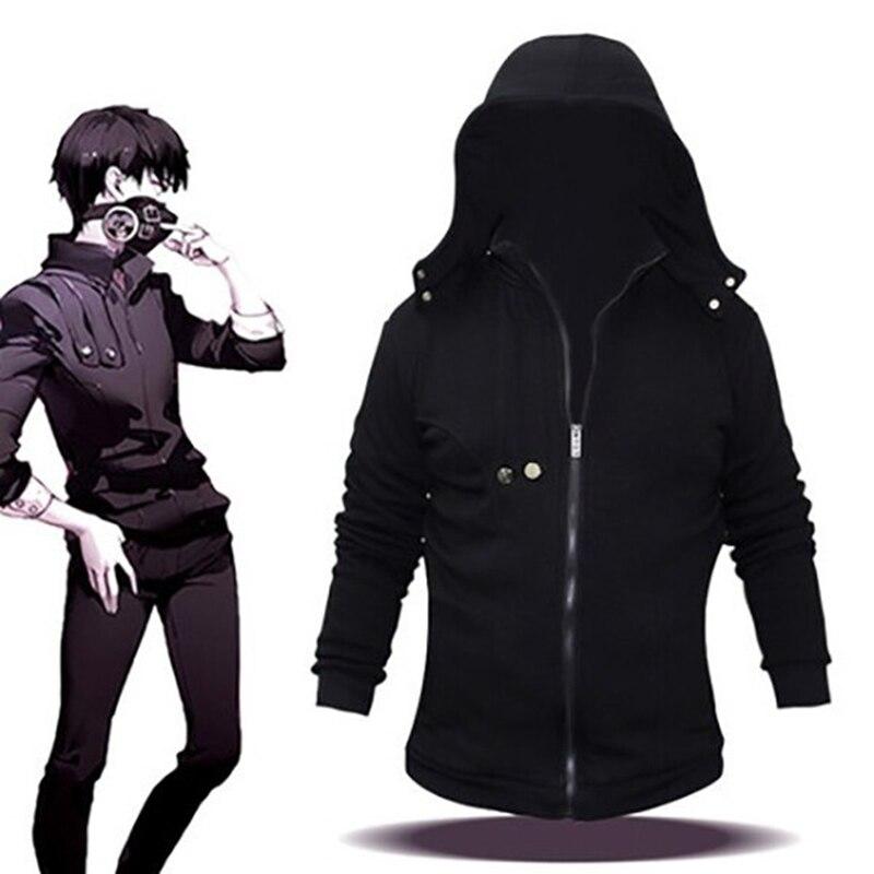 Anime Tokyo Ghoul Cosplay Kaneki Ken Hoodie  Zipper Sweatshirts 3D Print Casual Top Outwear