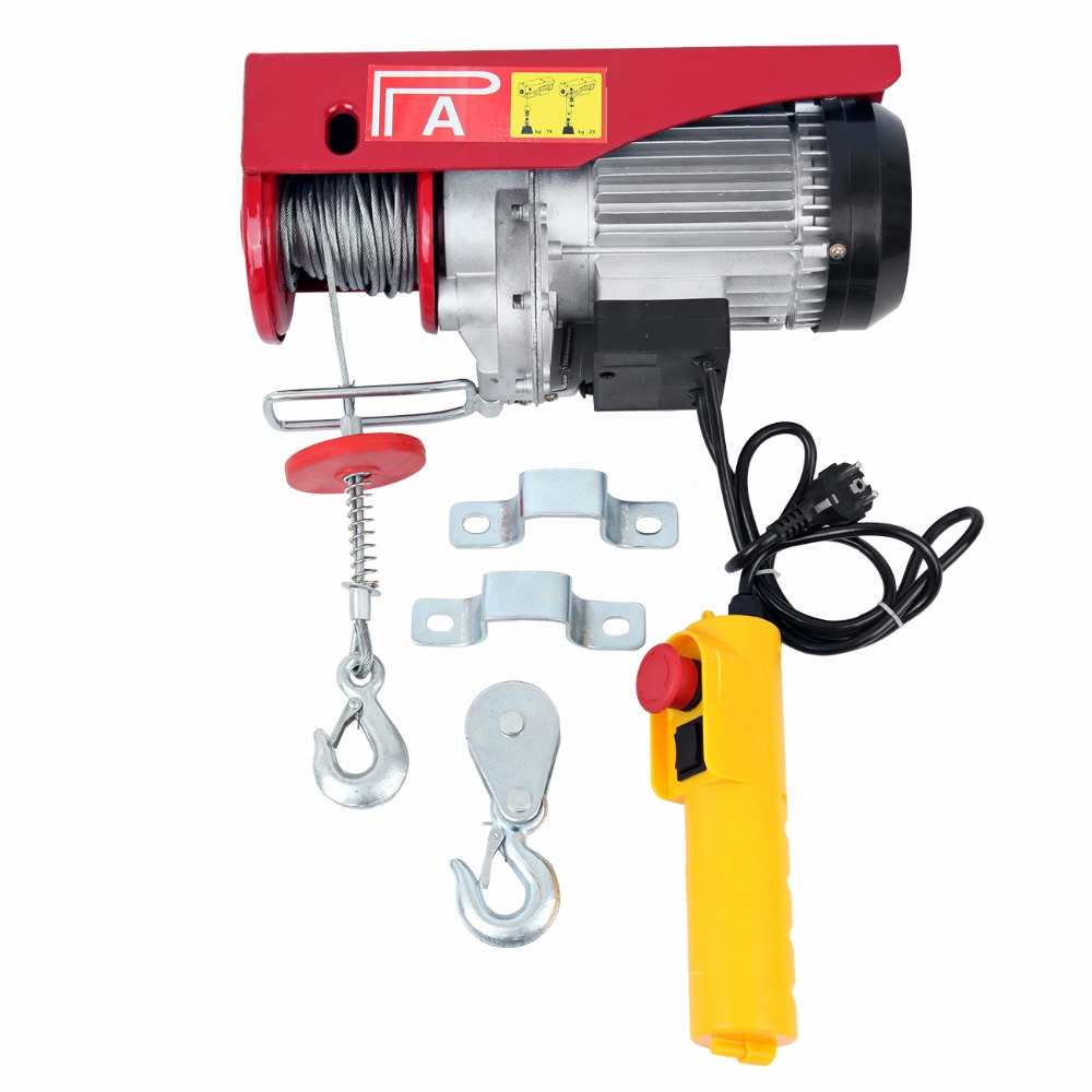 300/600KG Electric Winch Motor Winch Hoist Rope Hoist With Remote Control For Home Shop Workshop