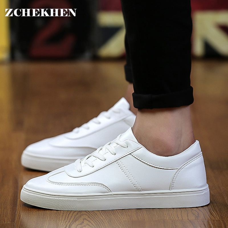 2017 British Men shoes casual lace-up spring shoes men black/white mens trainers rubber leather shoes mens zapatos hombre 2016 new spring autumn breathable casual shoes for men british style fashion men flat shoes blade mens trainers zapatos hombre