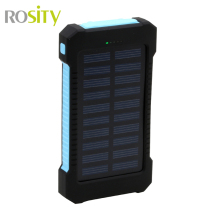 ROSITY Solar Power Bank Dual USB PowerBank 20000mAh External Battery Portable Charger BateriaExterna Pack for Mobile phone