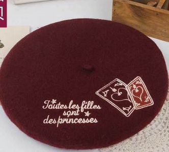 Princesa lolita doce Bonito chapéu Boina bordados Sweet girls Lady  temperamento S-7 e96024f4e50