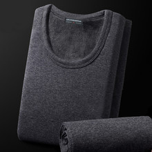 Thermal Underwear Set For Men Winter Warm Thick Wool Cotton Mens Long J