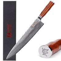Sunlong 12 Inch Damascus Steel Chef knife,Japanese 67 Layers VG 10 High Carbon Damascus Stainless Steel,Rosewood Handle