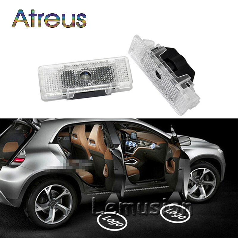 Atreus 2X LED Courtesy Lamp Car Door Welcome Light 12V For Land Rover Range Rover Freelander 2 Discovery 4 Evoque Accessories leather car seat covers for land rover discovery sport freelander range sport evoque defender car accessories styling