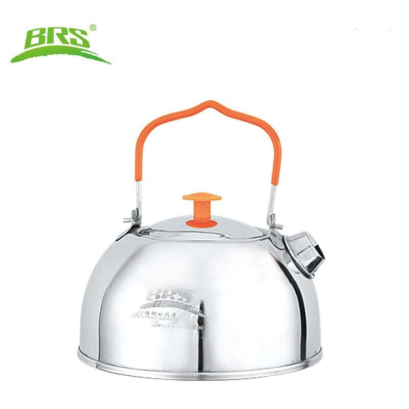 Vente chaude Pas D'aluminium Alliage Utensilios De Cocina Alocs Titane Brs-ts06 Nouvelle Arrivée Camping Théière Bouilloire de Cuisine En Plein Air