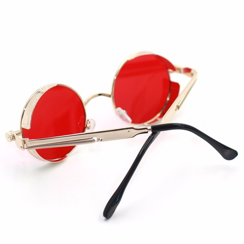 2019 Metal Steampunk Sunglasses Men Women Fashion Round Glasses Brand Design Vintage Sunglasses High Quality UV400 Eyewear Multan