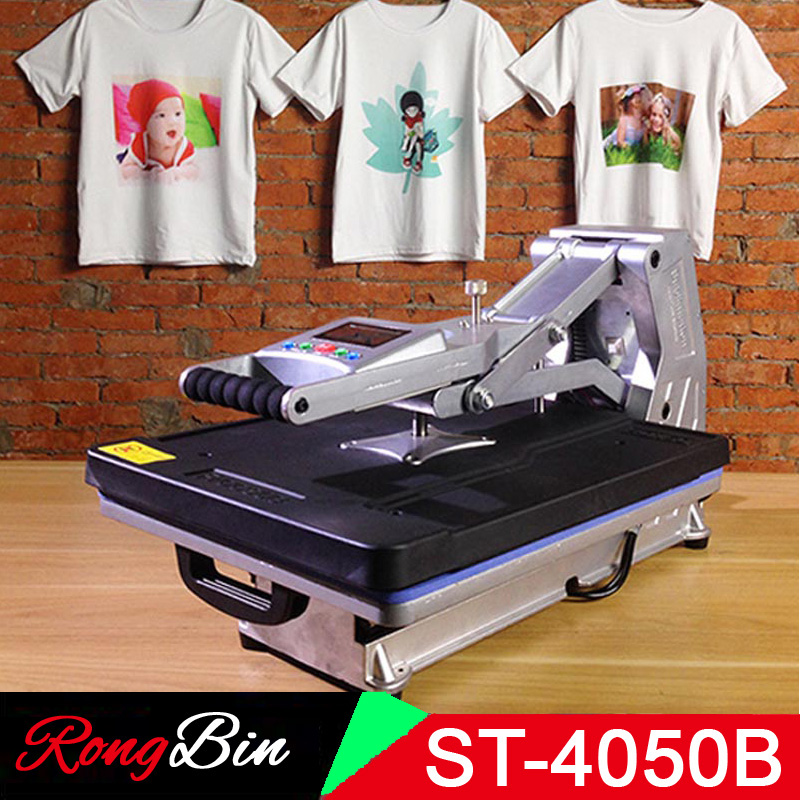 T-Shirt Printer Heat-Press-Machine Multifunction Hydraulic Rock/glass ST-4050B Without title=