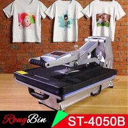 ST-4050B multifunción 40x50CM camiseta máquina de prensado en caliente sin impresora hidráulica de la camiseta para la caja del teléfono/bolsa/Puzzle/Rock/vidrio