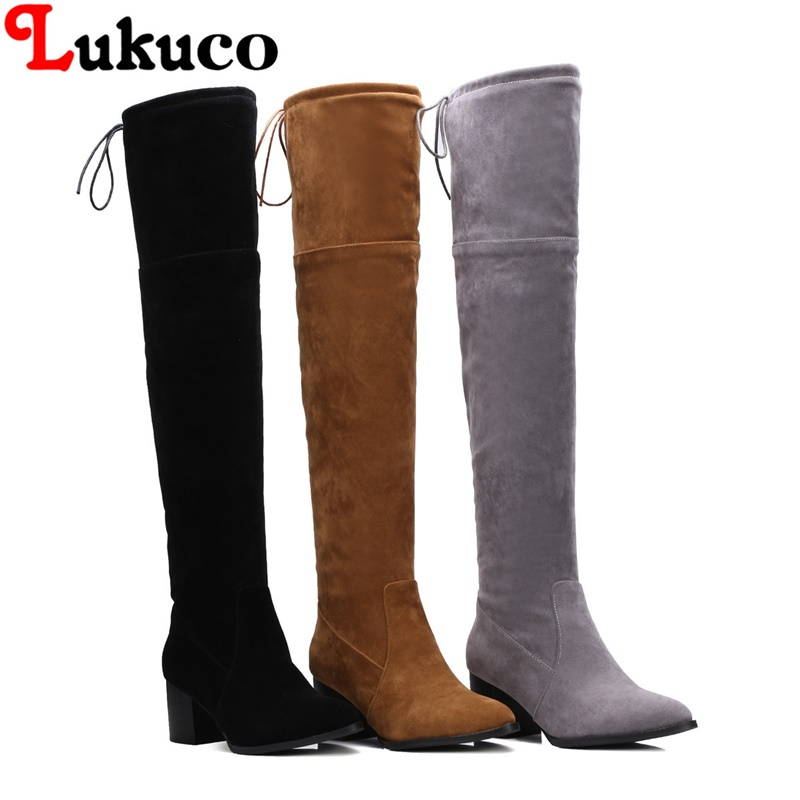 2018 fashion over-the-knee boots super large size 43 44 45 46 47 48 lace-up design women sexy shoes real pictures free shipping