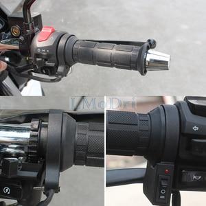 """Image 5 - LMoDri 1 Paar Motorrad Beheizte Griffe ATV Griff Wärmer Motorrad 7/8 """"22mm Elektrische Wärme Hand Grip 12V"""